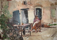 Agnes en Daan - huis van Magda, Frankrijk (1972)