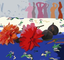 Stilleven - dahlia's en vijgen